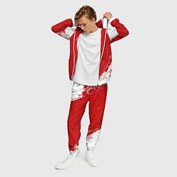 Костюм мужской Eat Sleep JDM: Red Style цвета 3D-белый — фото 2