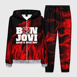 Костюм мужской Bon Jovi: Have a nice day цвета 3D-меланж — фото 1