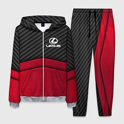 Костюм мужской Lexus: Red Carbon цвета 3D-меланж — фото 1
