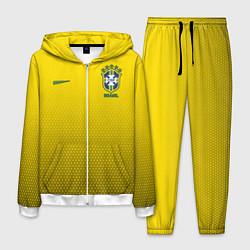 Костюм мужской Brazil Team: WC 2018 цвета 3D-белый — фото 1