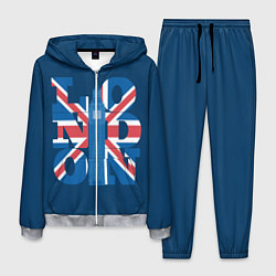Костюм мужской London: Great Britain цвета 3D-меланж — фото 1