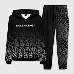Костюм мужской Balenciaga: White Pattern цвета 3D-черный — фото 1
