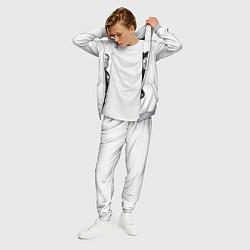 Костюм мужской ASAP Rocky: White Fashion цвета 3D-меланж — фото 2