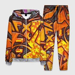 Костюм мужской Orange Graffiti цвета 3D-меланж — фото 1