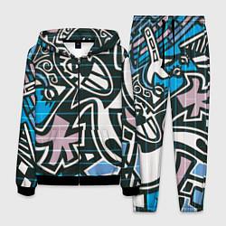 Костюм мужской Graffiti Art цвета 3D-черный — фото 1