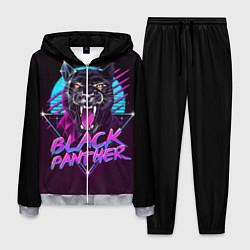 Костюм мужской Black Panther 80s цвета 3D-меланж — фото 1
