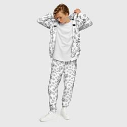 Костюм мужской Rammstein: White Pattern цвета 3D-белый — фото 2