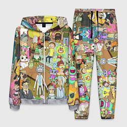 Костюм мужской Rick & Morty: Stories цвета 3D-меланж — фото 1