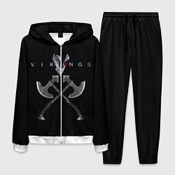 Костюм мужской Vikings цвета 3D-белый — фото 1