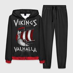 Костюм мужской Vikings Valhalla цвета 3D-красный — фото 1