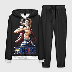 Костюм мужской One Piece цвета 3D-белый — фото 1