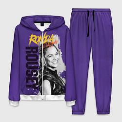 Костюм мужской Ronda Rousey цвета 3D-белый — фото 1