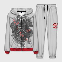 Костюм мужской Samurai цвета 3D-красный — фото 1