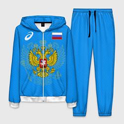 Костюм мужской ASICS Russia цвета 3D-белый — фото 1
