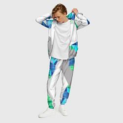 Костюм мужской Asics Sport цвета 3D-меланж — фото 2