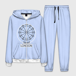 Костюм мужской Лондон London Eye цвета 3D-белый — фото 1