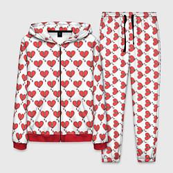 Костюм мужской Разбитое Сердце цвета 3D-красный — фото 1