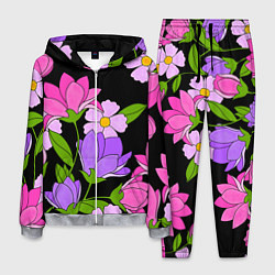 Костюм мужской Ночные цветы цвета 3D-меланж — фото 1
