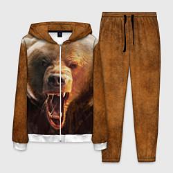 Костюм мужской Рык медведя цвета 3D-белый — фото 1