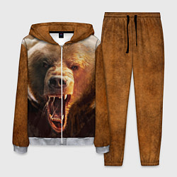 Костюм мужской Рык медведя цвета 3D-меланж — фото 1