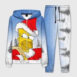Костюм мужской Санта Гомер цвета 3D-белый — фото 1
