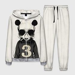 Костюм мужской Скелет панды цвета 3D-меланж — фото 1