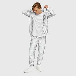 Костюм мужской Облако тегов: белый цвета 3D-белый — фото 2