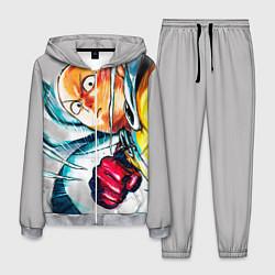 Костюм мужской One Punch Man Rage цвета 3D-меланж — фото 1