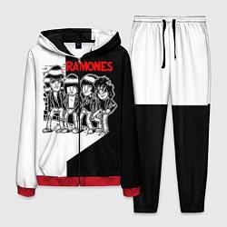 Костюм мужской Ramones Boys цвета 3D-красный — фото 1