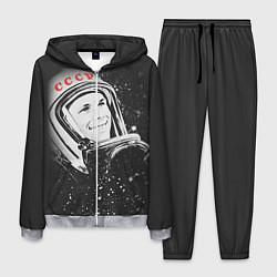 Костюм мужской Гагарин в космосе цвета 3D-меланж — фото 1
