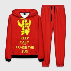 Костюм мужской Keep Calm & Praise The Sun цвета 3D-черный — фото 1