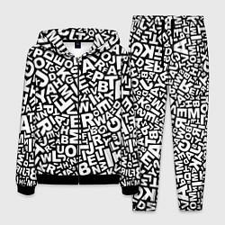Костюм мужской Английский алфавит цвета 3D-черный — фото 1