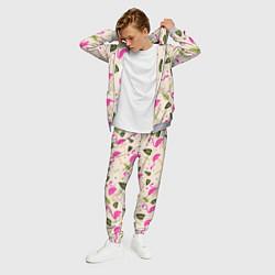 Костюм мужской Нежный фламинго цвета 3D-меланж — фото 2