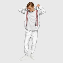Костюм мужской Вышивка 13 цвета 3D-белый — фото 2
