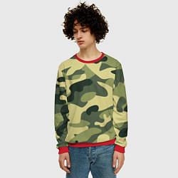 Свитшот мужской Камуфляж: зеленый/хаки цвета 3D-красный — фото 2