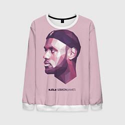 Свитшот мужской LeBron James: Poly Violet цвета 3D-белый — фото 1