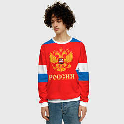 Свитшот мужской Сборная РФ: домашняя форма цвета 3D-белый — фото 2