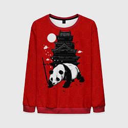 Свитшот мужской Panda Warrior цвета 3D-красный — фото 1
