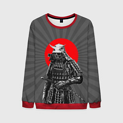 Свитшот мужской Мертвый самурай цвета 3D-красный — фото 1