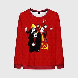 Свитшот мужской Communist Party цвета 3D-красный — фото 1