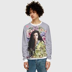 Свитшот мужской Lorde Floral цвета 3D-белый — фото 2