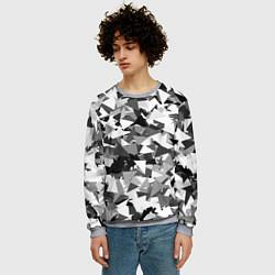 Свитшот мужской Городской серый камуфляж цвета 3D-меланж — фото 2