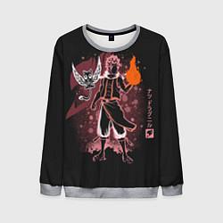 Свитшот мужской Fairy Tail цвета 3D-меланж — фото 1