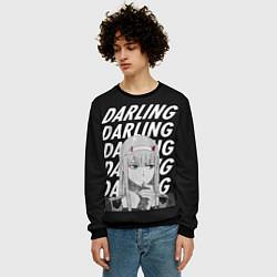Свитшот мужской ZeroTwo Darling in the Franx цвета 3D-черный — фото 2