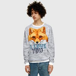 Свитшот мужской Милая лисичка! цвета 3D-белый — фото 2