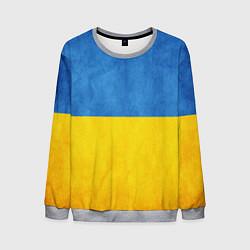 Свитшот мужской Украина цвета 3D-меланж — фото 1