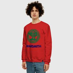 Свитшот хлопковый мужской Dwarf Fighter - Warsmith цвета красный — фото 2