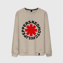 Свитшот хлопковый мужской Red Hot Chili Peppers цвета миндальный — фото 1