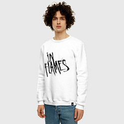 Свитшот хлопковый мужской In Flames цвета белый — фото 2