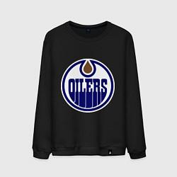 Свитшот хлопковый мужской Edmonton Oilers цвета черный — фото 1